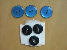ASSORTED BLUE & TURQUOISE BUTTONS