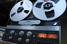 REVOX B77 4 track reel to reel deck 3-3/4 & 7-1/2 SERVICED w BOX & extras CLEAN