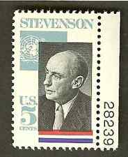 Scott# 1275  5c ADELAI E. STEVENSON - Politician  - plate number single mnhog