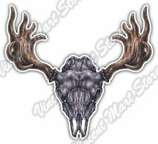 "Moose Skull Antlers Hunting Hunter Deer Car Bumper Vinyl Sticker Decal 5""X4"""