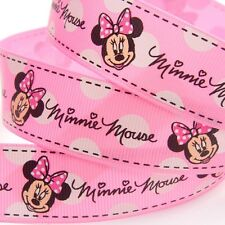 ❤️ NOUVEAU RUBAN GROS GRAIN DISNEY MINNIE 25MM EMBELLISSEMENT SCRAPBOOKING