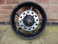 YAMAHA XJ6 S DIVERSION 2010 REAR WHEEL RIM,SPINDLE,SPROCKET CARRIER XJ6N 600