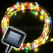 New 10M 100 Leds Solar Fairy String Lights Indoor/Outdoor Decor Lamp Multi-Color