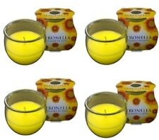 4 PRICES citronella GLASS JAR CANDLE 30 HOUR BURN TIME freepost
