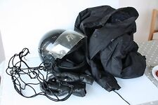 Motorcycle Helmet, gloves, jacket and elasticated carry net - used on scooter