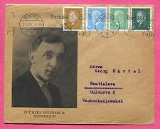 1931 Germany Munich Michael Neumair Illustrated Picture Cover to Czechoslovakia