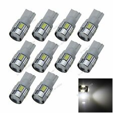 10X Car  6 LED 5630 SMD Top Spotlight T10 W5W Wedge Side Light Bulb Lamp A055