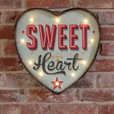 SWEET HEART Shaped Light up LED bulb Metal Carnival Sign Circus Bedroom Retro