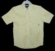 Sz S Men's Hawaiian Style Shirt BILLABONG Bold Tropical Hibiscus Lite Green