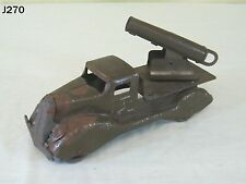 VINTAGE MARX PRESSED STEEL METAL TOY ARMY MILITARY CANNON TRUCK ANTIQUE RARE