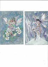 4 POSTCARDS  FAIRY POPETS  IN THE DUFEX PROCESS  EG FOIL LOOK
