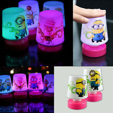 Cute Minions Pat LED Changing Color Table Night Light Lamp Decoration Kids Gift