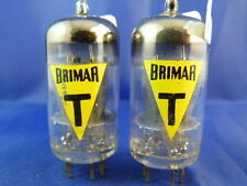 Matched Pair 6057/CV4004/E83CC Brimar-YELLOW NOS # MILITARY # COIN BOTTOM (9598)