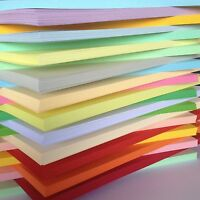50 SHEET 170gm  A4 COLOURED CARD CHOICE OF 23 COLS PASTELS INTENSIVES. CREAMS *