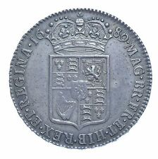 1689 HALFCROWN, BRITISH SILVER COIN FROM WILLIAM & MARY aEF