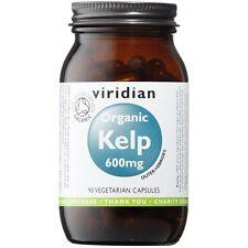 Viridian Kelp 600mg Veg Caps orgánica (que proporciona yodo 420ug) 90