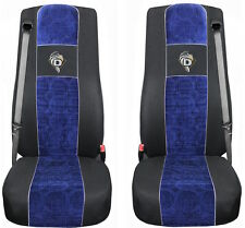 COPRISEDILI IN VELOURS PER CAMION DAF XF 105 / XF 106 NERO - BLU For TRUCK A22