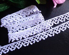 Venise Lace/trim, 1/2 inch wide white color trim selling by the yard