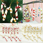 10PC Xmas Tree Candy Cane Hanging Ornament Decoration Christmas Home Party Decor