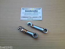 STAINLESS STEEL FRONT & REAR BRAKE LEVERS - ARMS FOR LAMBRETTA LI-SX-TV GP