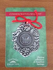 UNITED STATES NAVY CHRISTMAS COMMEMORATIVE ORNAMENT NEW