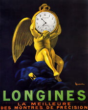 LONGINES SWISS WATCH BEST PRECISION CAPPIELLO 8X10 VINTAGE POSTER REPRO FREE S/H