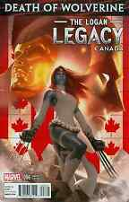 DEATH OF WOLVERINE LOGAN LEGACY 6 RARE CANADA CANADIAN VARIANT