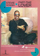 "STEVIE WONDER "" PART TIME LOVER "" P/V/G  SHEET MUSIC PIECE COLLECTORS ITEM"
