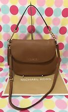 NEW MICHAEL KORS LEATHER BEDFORD LARGE TASSEL CONVERTIBLE SHOULDER BAG IN  ACORN