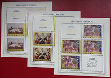 POLAND - 1969 - COMPLETE SET OF MINISHEETS - POLISH ART - MNH