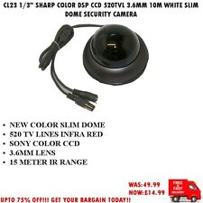"CL23 1/3 ""SHARP COLOR DSP CCD 420TVL 3,6 mm 15m ARGENTO CUPOLA Telecamera di sicurezza"