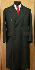 Vtg 1950s Millen 10 Savile Row London Double Breasted Wool Overcoat 40 41 Gray