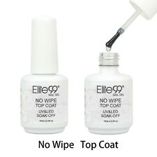 Elite99 Soak Off No Wipe Top Coat UV Gel Polish Nail Art No Tacky Sealer 15ml