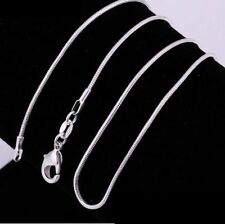 "1mm 925 sterling silver snake chain necklace 18"" long"
