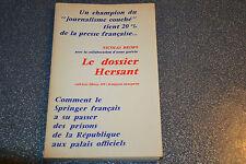 Nicolas BRIMO: le dossier Hersant. Maspero/Cahiers Libres 320 (E1)
