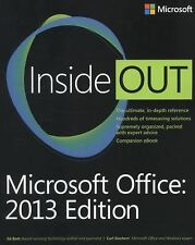 Microsoft Office Inside Out: 2013 Edition, Siechert, Carl, Bott, Ed, Good Condit