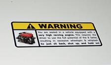 Honda B Series Warning Sticker Decal B16 B18 B20 Civic Integra Accord CRX VTEC