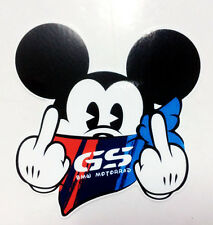 2 x BMW MOTORRAD GS Mickey Mouse R1200 F800 R1100 R1150 GS ADVENTURE STICKER