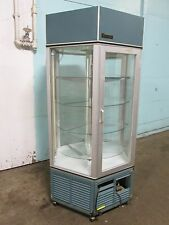 """""""TRAULSEN"""" COMMERCIAL 6 SIDED LIGHTED REFRIGERATED ROTATING BAKERY DISPLAY CASE"""