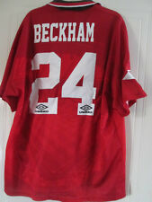 Manchester United Beckham  1994-1996 HOME CL Football Shirt Size Adult XL /37982