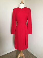 Vintage CAROLINA HERRERA Red Dress 8