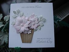 Personalised Handmade Mother's Day / Birthday Card - Flower Pot