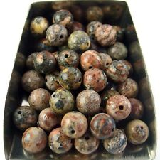 30Pcs 6mm round red fossil gemstone spacer loose beads stone abd bd027