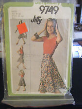 Simplicity 9749 Misses Jiffy Front Wrap Skirt Pattern - Size L (18-20) Wst 32-34