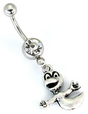 "14g 7/16"" Casper the Ghost Charm Belly Button Ring"