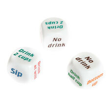 Drink Drinking Sip Dice Roll Decider Die Game Party Bar Club Pub Gift Toy PM