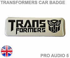 Transformers voiture badge en aluminium brossé-Mini AUDI FORD FIAT Vauxhall VW BMW