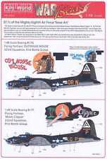 Kits World Decals 1/48 B-17 FLYING FORTRESS Outhouse Mouse & Miami Clipper