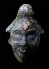 Old Tribal Unusual Punu Bronze  Maiden Spirit  Mask -- Gabon