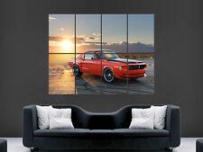FORD Mustang 1968 cattivo Arte Immagine Enorme GRANDI FOTO POSTER GIGANTE